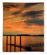 Calibogue Dock Fleece Blanket