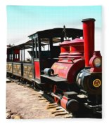 Calico And Odessa Rail Road Fleece Blanket