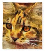 Calico Cat Fleece Blanket