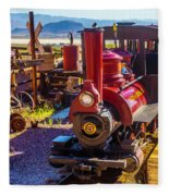 Calico Ghost Town Train Fleece Blanket