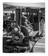 Calico Odessa Train In Black And White Fleece Blanket