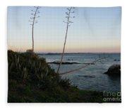 California At Twilight Fleece Blanket