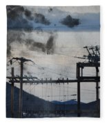 California Cascade Power Lines Fleece Blanket