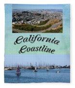 California Collage Fleece Blanket