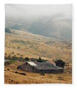 California Homestead - Rural Scene Fleece Blanket