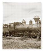 California Northwestern Railroad #30 4-6-0 Baldwin Locomotive Works Circa 1905 Fleece Blanket