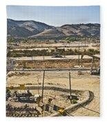 California Oil Field 14pdxl084 Fleece Blanket
