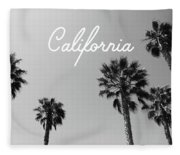 California Palm Trees By Linda Woods Fleece Blanket