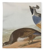 California Partridge Fleece Blanket