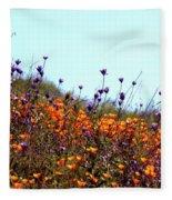 California Poppies And Wildflowers Fleece Blanket