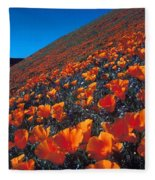California Poppies Quartz Hill Fleece Blanket