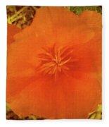 California Poppy Glow Fleece Blanket