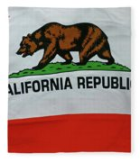 California Republic Flag Fleece Blanket