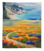 California Spring Big Sur Fleece Blanket