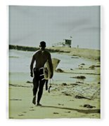 California Surfer Fleece Blanket