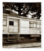 California Western  M 100 Gas Railcar  Skunk Train  Circa 1930 Fleece Blanket