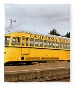California Western Railroad Motorcar M300 Fiort Bragg California Fleece Blanket