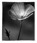 Californian Poppy Fleece Blanket