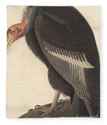 Californian Vulture Fleece Blanket