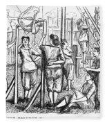 Calisthenics, 1867 Fleece Blanket