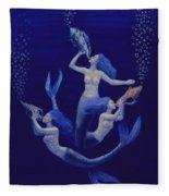 Call Of The Mermaids Fleece Blanket