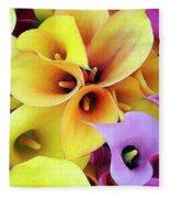 Calla Lilies Fleece Blanket