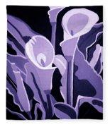 Calla Lillies Lavender Fleece Blanket