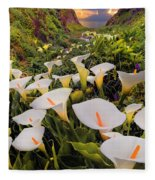 Calla Lily Fleece Blanket