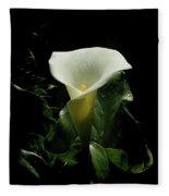 Calla Lily Fleece Blanket
