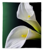 Calla Lily Green Black Fleece Blanket