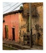 Calle En Suchitoto Fleece Blanket