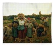 Calling In The Gleaners Fleece Blanket