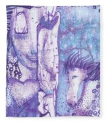 Calling Upon Spirit Animals Fleece Blanket