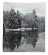 Calm And Frosty Fleece Blanket