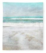 Calm Coast- Art By Linda Woods Fleece Blanket