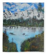 Calm Lake Fleece Blanket