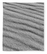 Calm Sands In Monochrome Fleece Blanket