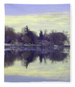 Calming Lavendar Scene Fleece Blanket
