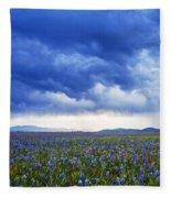 Camas Glory At Camas Prairie In Idaho Fleece Blanket