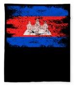 Cambodia Shirt Gift Country Flag Patriotic Travel Asia Light Fleece Blanket