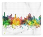 Cambridge England Skyline Fleece Blanket