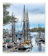 Camden Bay Harbor Fleece Blanket