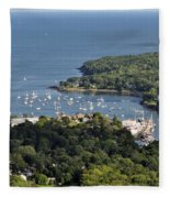 Camden Harbor Maine Fleece Blanket