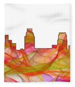 Camden Nj Skyline Fleece Blanket