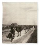 Camel Caravan, C1911 Fleece Blanket