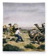 Camel Express, 1857 Fleece Blanket