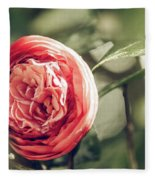 Camellia 3 Fleece Blanket
