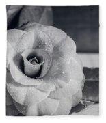 Camellia Back And White Fleece Blanket