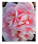 Camellia Flower Fleece Blanket