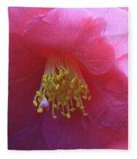 Camellia Japonica Fleece Blanket